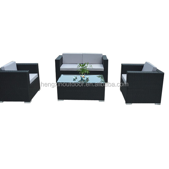 Rattan 4 Seater Sofa Set Garden Furniture Set