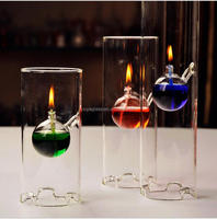 Glass oil lamp shade and glass chimney