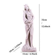 VILEAD 32 см статуя богини богатства из песчаника, украшение для дома, креативные фигурки богини, миниатюрные винтажные украшения для дома(Китай)