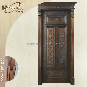 Simple Teak Wood Main Front Door Design From India