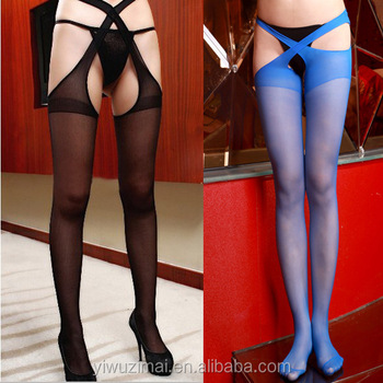 599b8210406 Sexy Women Open Crotch Crotchless Sheer Pantyhose Stockings Tights Socks New
