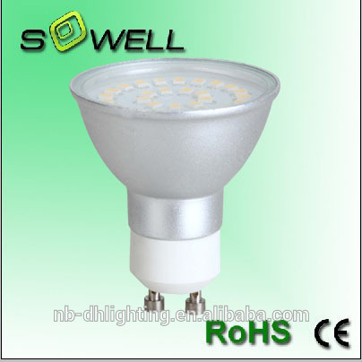 220-240V 3.3W/3.6W/4W 2825SMD 24/27/30PCS GU10/MR16 LED lamps, 3000K Aluminum 30000H LED lights made in China