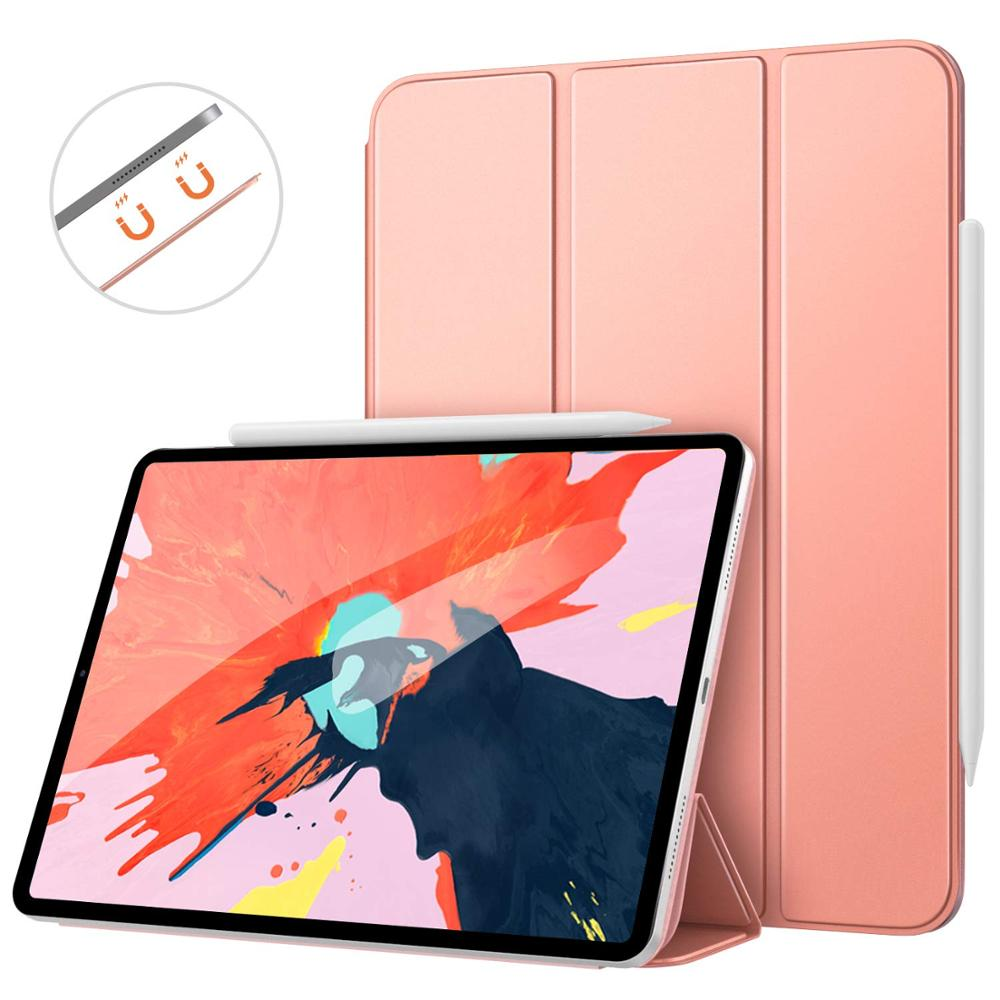 For <strong>iPad</strong> Pro 12.9 2018 Tablet Case Strong Magnetic Folding Stand Folio Cover with Auto Wake/Sleep Leather Cover