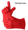 Silicone Heat Resistant Oven Gloves / Five Fingers Oven/BBQ Mitts