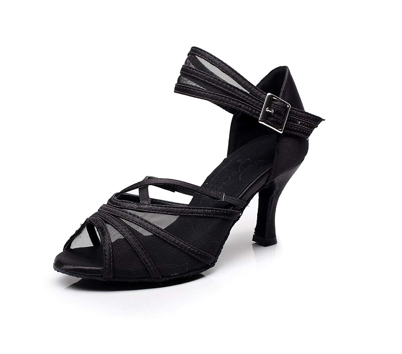 Get Quotations Miyoopark Women S P Toe Mesh Latin Salsa Ballroom Dance Shoes Elegant Wedding Sandals