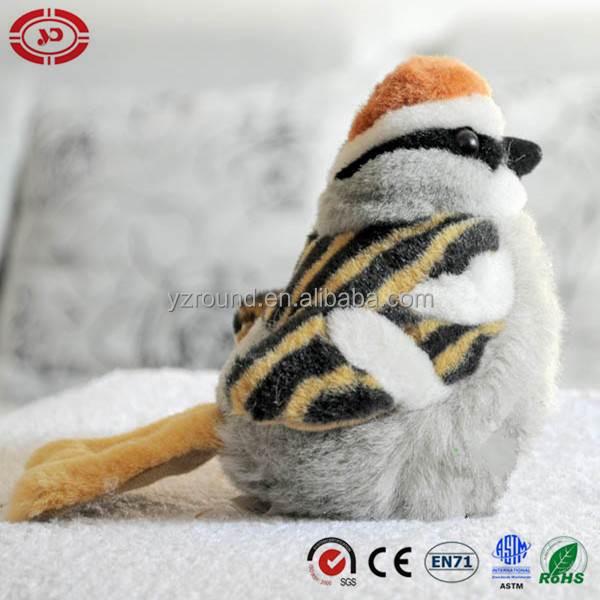 Cute bird sparrow soft stuffed toy plush bird