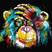 Orangutan art hand painted canvas picture animal picture 5d diamond painting embroidery