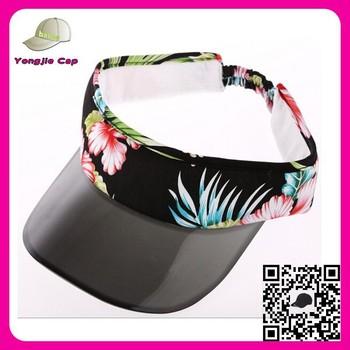 5be1ed1c71f5e3 Yiwu factory sunny transparent plastic visors Custom Made pvc sun visor cap