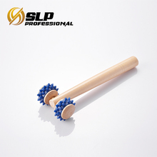 Wooden Roller Massager With soft rubber wheels