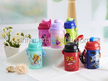 colorful plastic children 3D water bottle