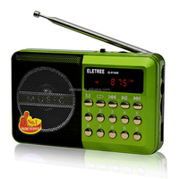 Portable Mini MP3 Music Player Digital Media Speaker FM Player Mini Radio with LED Screen Display