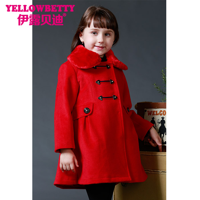 Wholesale girls winter fashion winter, kids thick wind coat children jacket coat