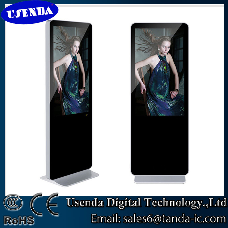 Floor stand Android Network wifi touch lcd indoor lcd 3g wifi bus advertising screen