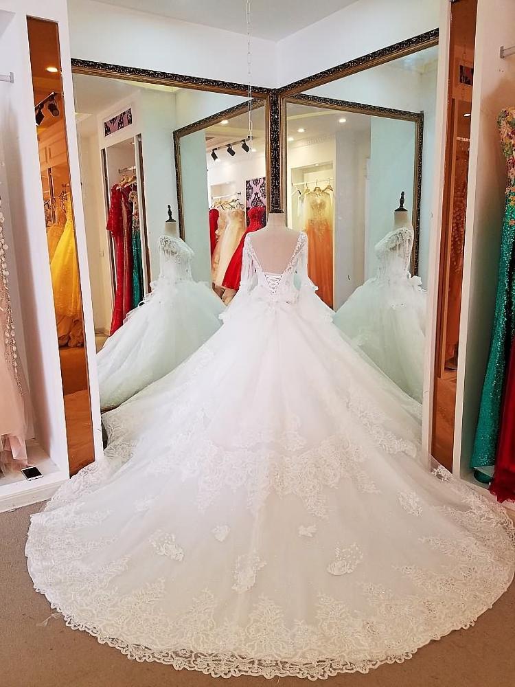 ce8e07a62 LS66841 الصين نمط س الرقبة أنيقة المنزل إد فساتين زفاف الأزياء مودا تقليم  لفستان الزفاف