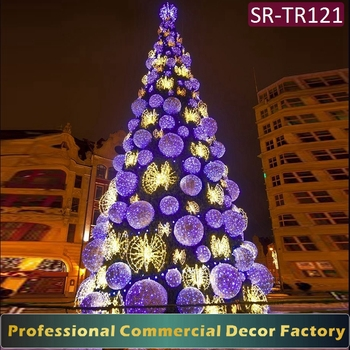 outdoor pvc giant led motif tree light artificial christmas tree