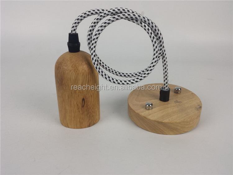 E14 E27 Wooden Lamp Holder