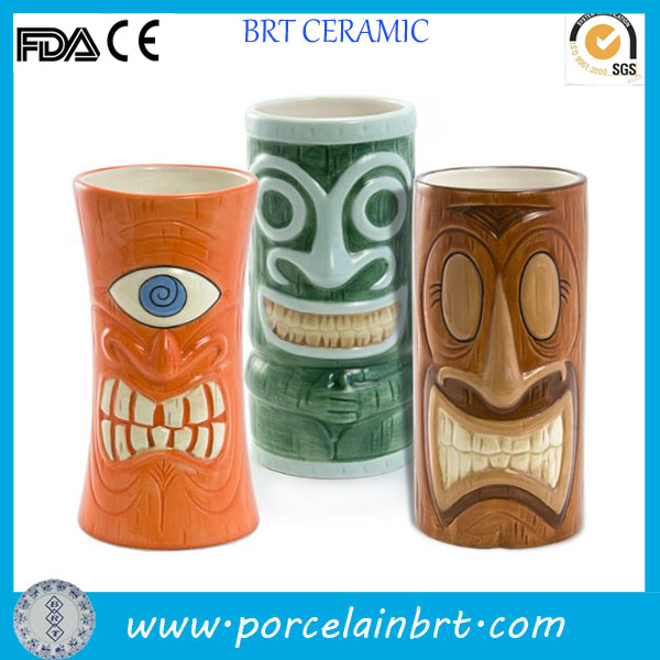 Different types custom wholesale Tiki Mug