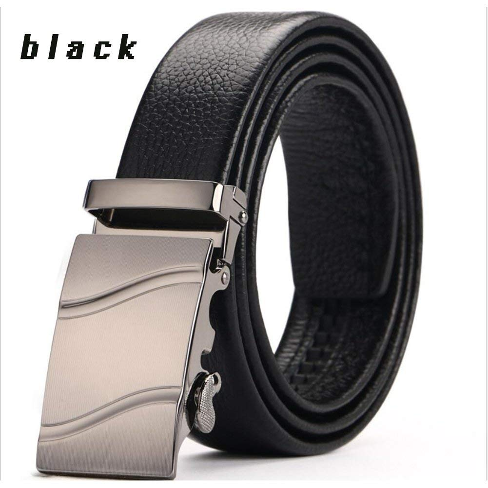 XUEXUE Mens Belt,Business Stainless Steel ,Automatic Buckle, Adjustable ,Casual Formal Belts,Great for Jeans /& Work Clothes Uniforms
