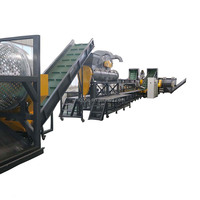 500-5000kg/hr PET bottle plastic recycling machine