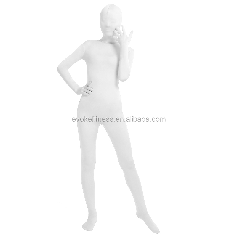 White Adult Whole Body Ballet Unitard/Dance Costume/ Gymnastics Leotard/Cosplay Wear