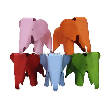 Fancy Design Plastic Children Furniture Modern Polypropylene Repica ELEPHANT  CHAIR/ Replica Kids Chair
