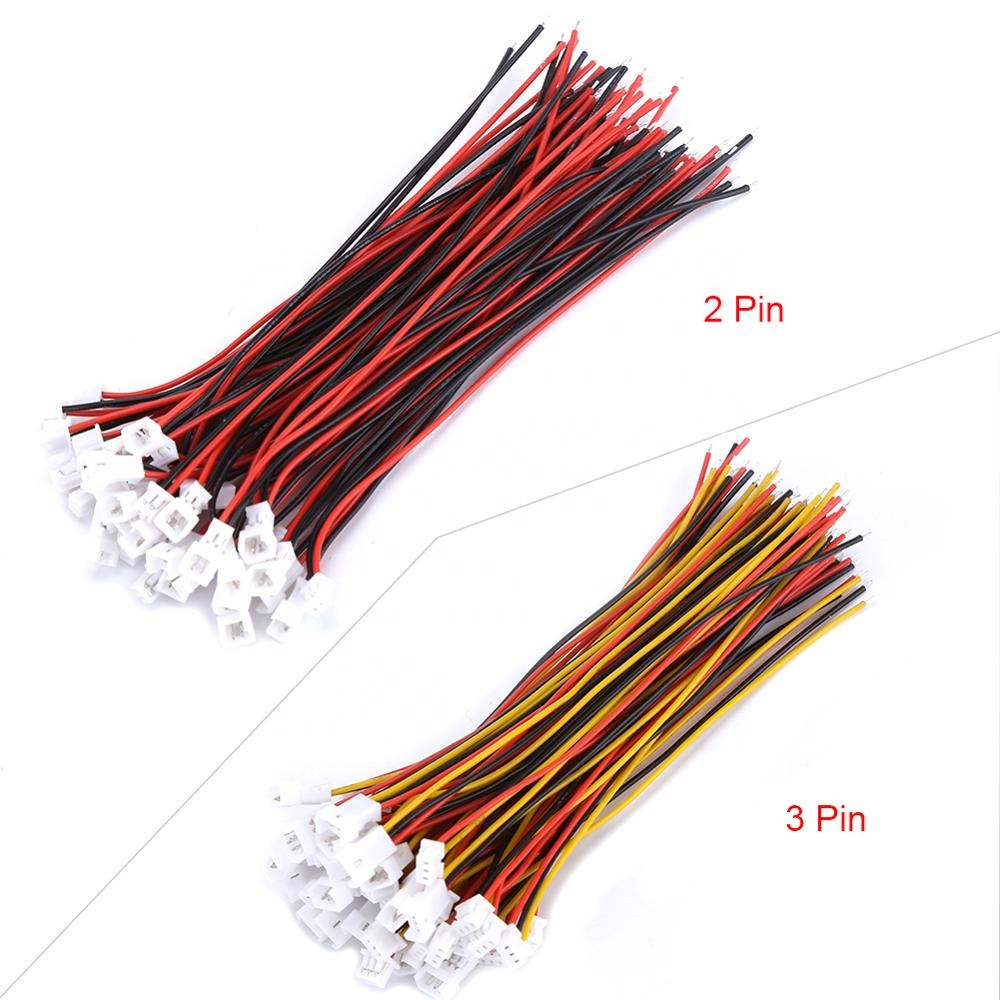 1.0mm 1.25mm 1.5mm 2.0 2.54mm 2/3/4/5/6 Pin Connector Electric Wire & Female Plug  Custom Cable Assembly