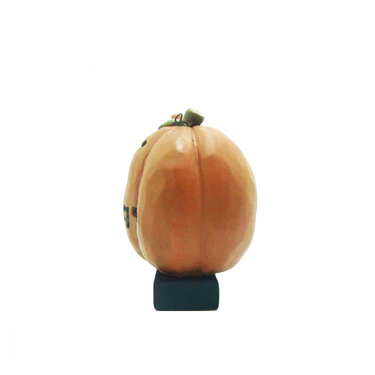 Newest Design 'trick or Treat' on Base Pumpkin Halloween Figurine Interesting Crafts Office Decorations