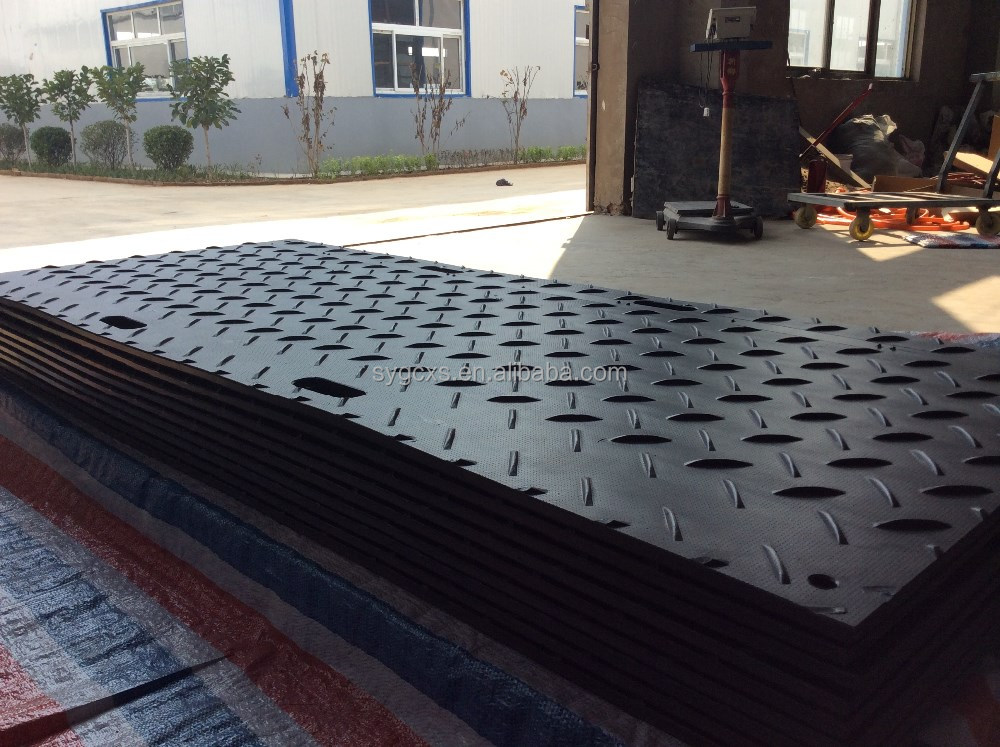 UV Stabilised HDPE Plate Ground Protection Outdoor Mobile PE Road Mats