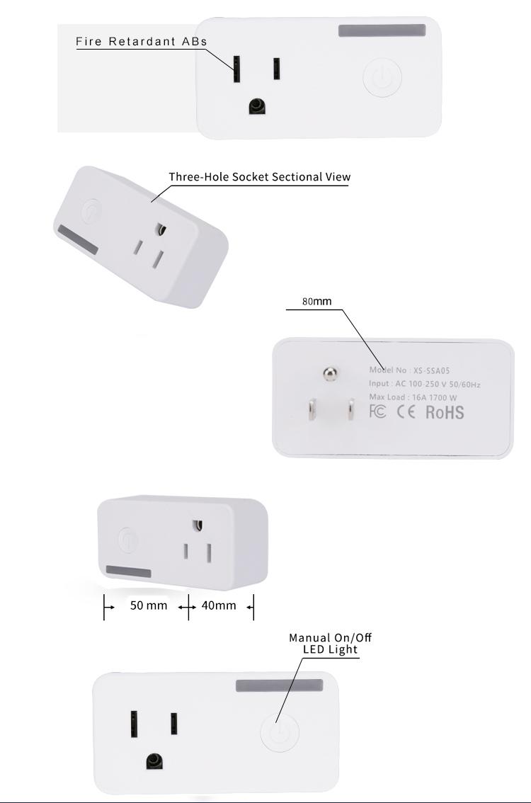 Factory direct sales tuya smart power plug wifi,alexa smart timer plug,  View Smart plug, Tuya Product Details from Hangzhou Tuya Information