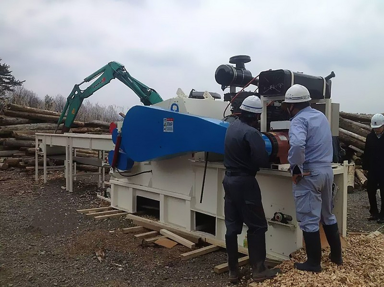 4M Input Belt Conveyor Withed Wood Chipping Machine Wood Crusher