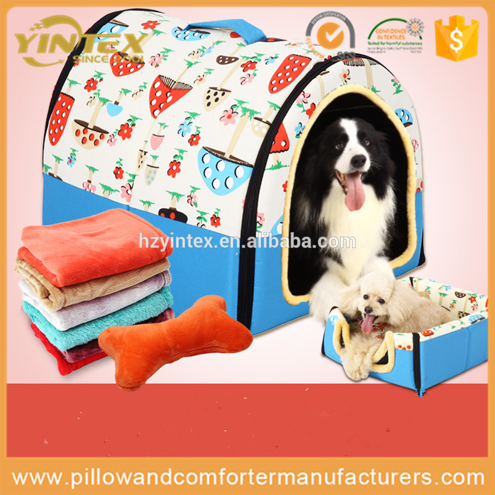 Large natural pet accessory washable foldable dog bed for small pets