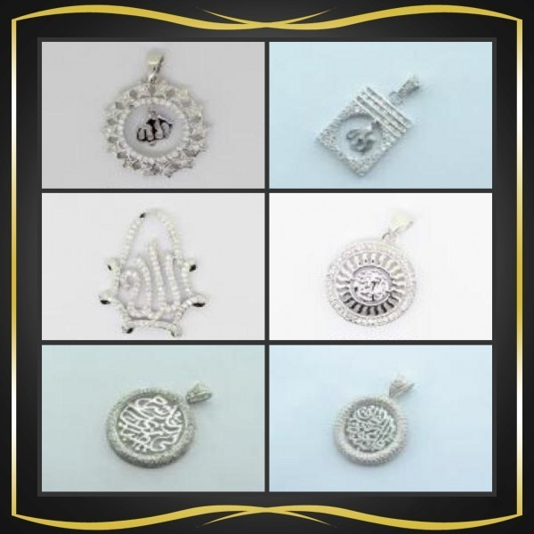 top selling 2016 925 silver muslim pendant with AAA CZ stone .