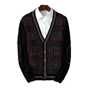 men cardigan men's business coat fashion male knitted sweater