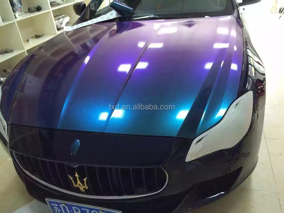 metallic pearl vinyl wrap for car color changing purple to blue chameleon buy metallic pearl. Black Bedroom Furniture Sets. Home Design Ideas