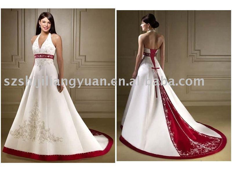 4f87848b90 Vestidos novia blanco y rojo – Vestidos de boda