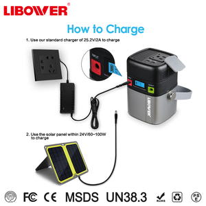 Libower Manufacturer 110V Ac Socket Solar Power Portable Mobile Power bank Station For Home quick charger