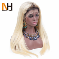 2017 New Arrival Brazilian Dreadlocks Two Tone #1b/613 ombre lace front human hair wigs