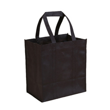 Individuelle Ebene Tote <span class=keywords><strong>Schwarz</strong></span> Vlies Wein <span class=keywords><strong>Tasche</strong></span> Recycle Wein Flasche <span class=keywords><strong>Tasche</strong></span>