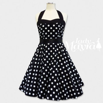39603c46a246e Rockabilly 50s Lolita Costume Polka Dot Petticoat Pin Up Gothic Punk  Vintage Retro Party Swing Dress