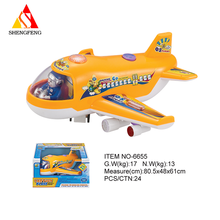 Battery operated b/o electric cartoon toy plane