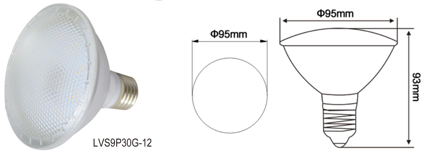 良質 E26 E27 ベースの ce rohs cul 規格が承認 Par38 led IP65 防水ガーデンスポットライト