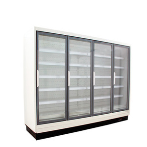 air cooling supermarket 4 door commercial refrigerator