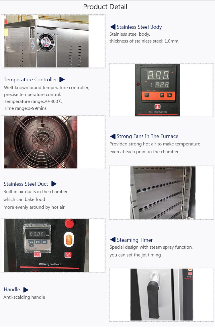DBK Professional 10trays commercial Kitchen Bread Baking Gas Convection Oven/bakery gas oven