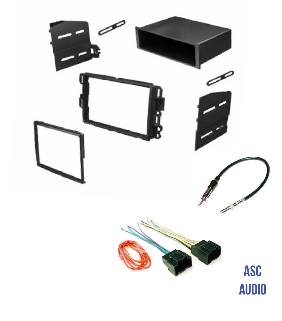 Get Quotations · Car Stereo Install Dash Kit, Wire Harness, and Antenna  Adapter to Add Radio for
