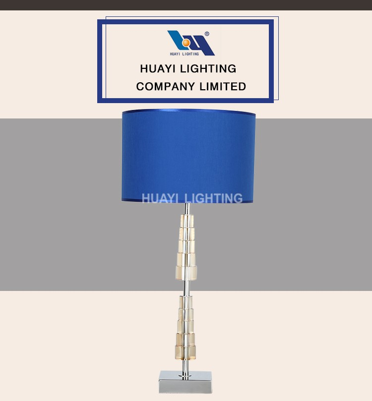 European style metal restaurant decorative table lamp, hotel table lamp