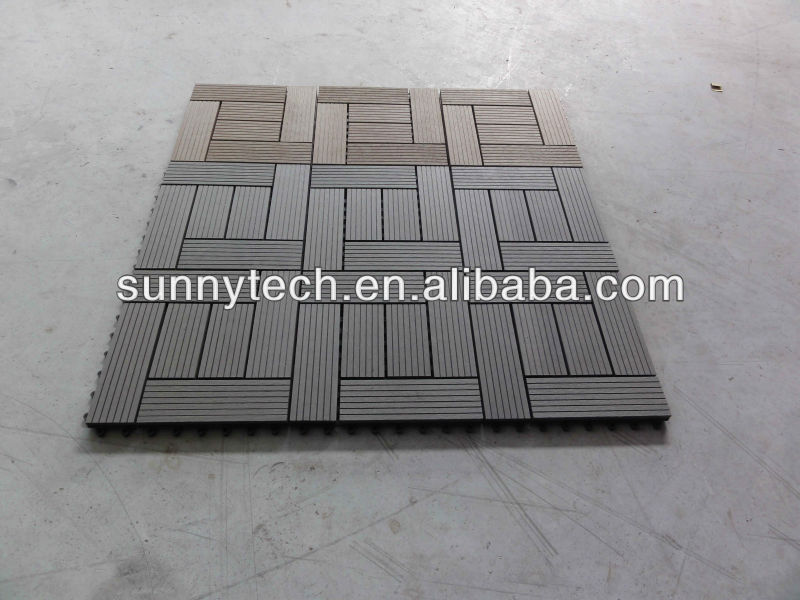 wpc DIY Tiles decking floor use for home and garden