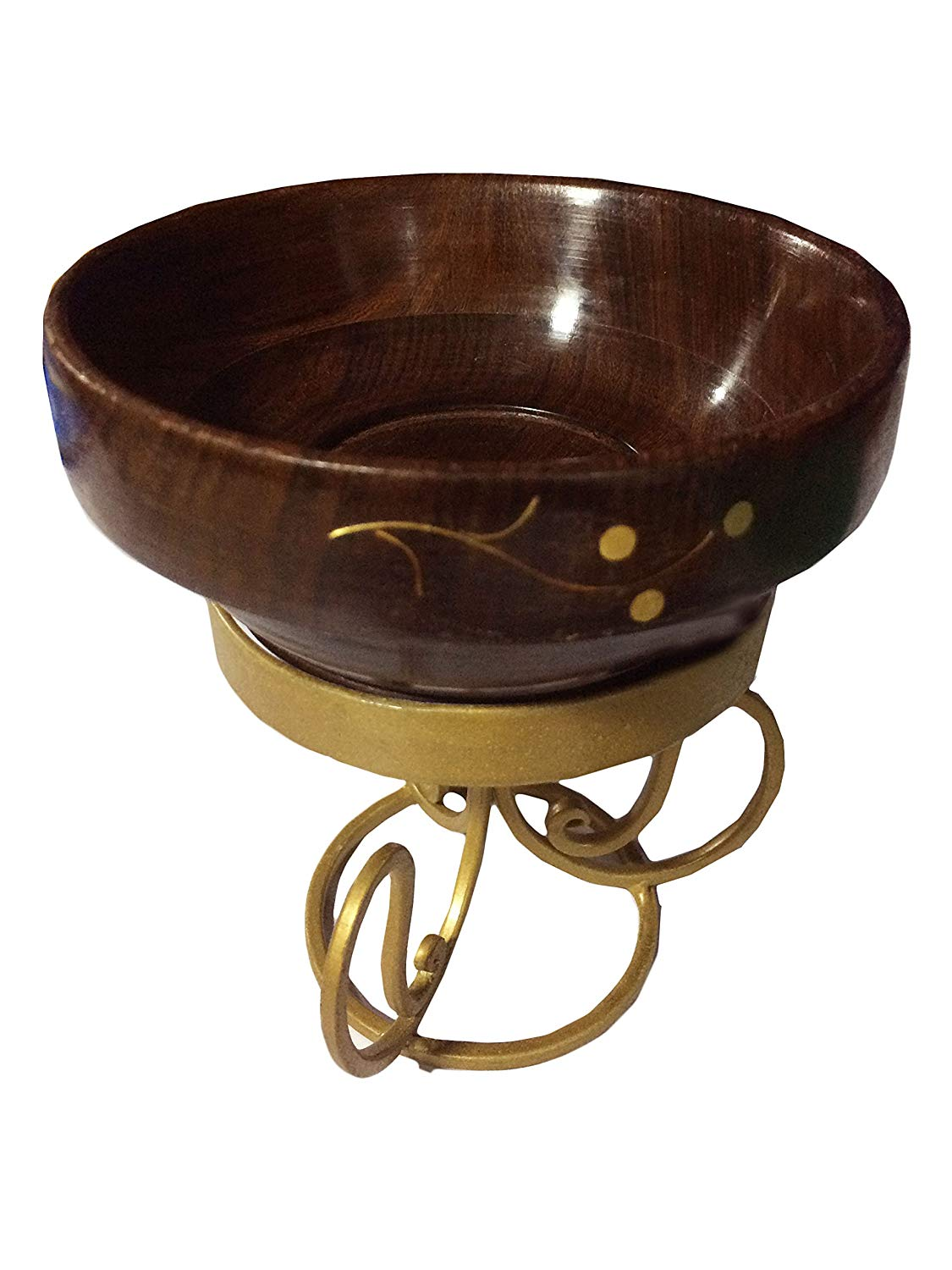 Get Quotations Wooden Handmade Bowl With Stand Inlay Work Serving Great For Fruit