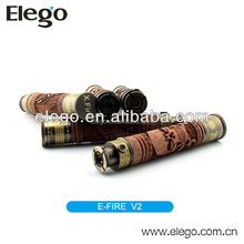 2014 Elego hot selling products vision xfire efire skull wood spinner battery