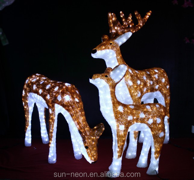 Weihnachtsbeleuchtung Tiere.Led Family Set Sika Deer Outdoor Animals Christmas Lights Motif Light Buy Christmas Lights Christmas Outdoor Decorative Deer Christmas Golden Deer
