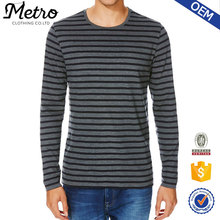 Striped Long Sleeve T-Shirt for tall mens clothing OEM/ODM